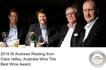 Photo for: 2019 St Andrews Riesling from Clare Valley, Australia Wins The Best Wine Award
